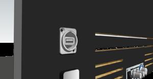 Emplacement prise USB arrière type PM88