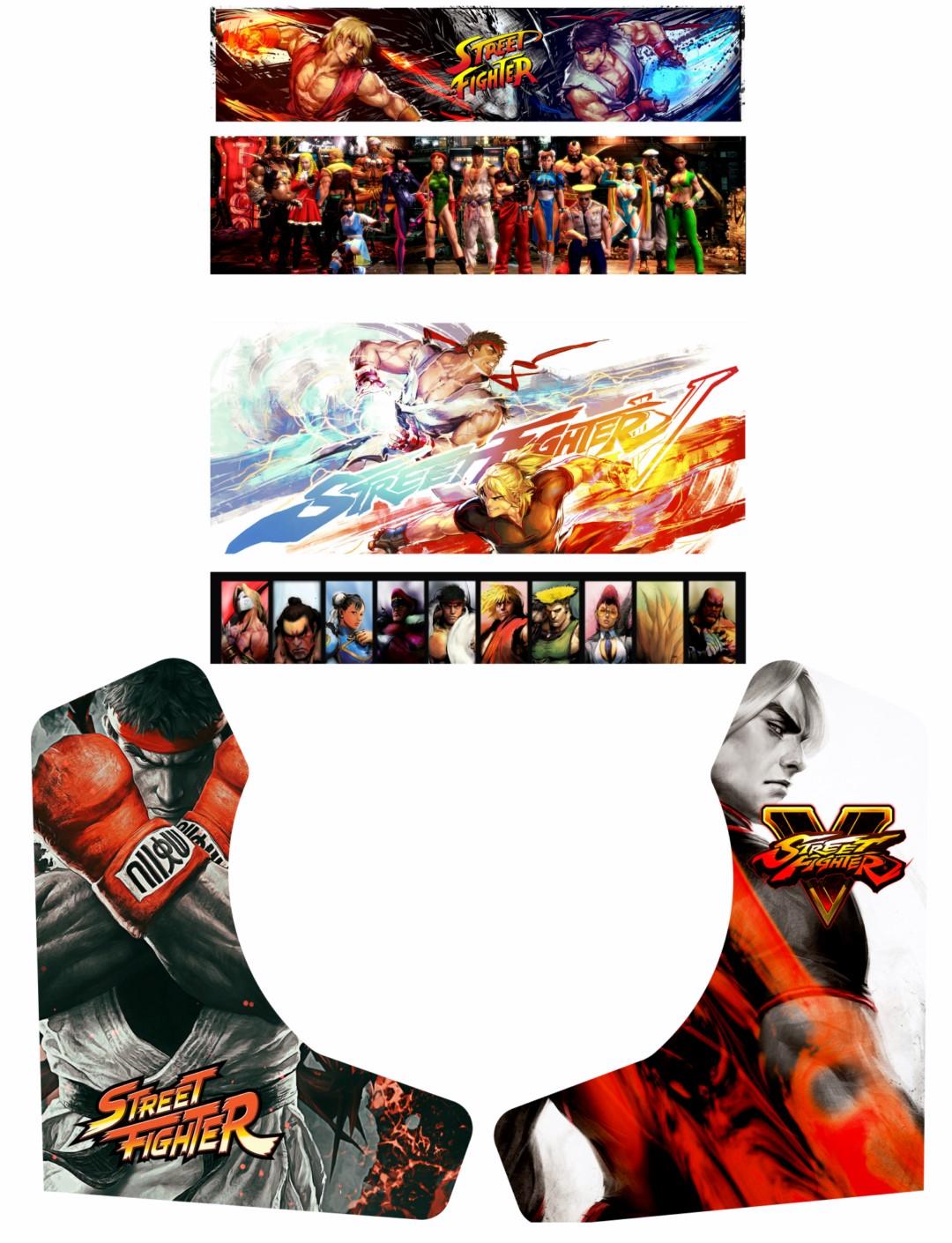 Stickers street fighter v pour bartop pm88